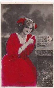 Miss Gertie Millar Red Tinted Bassano Real Photo Berlin