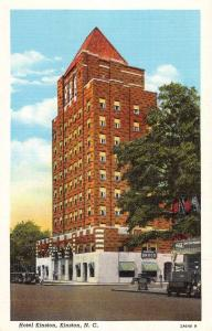 Kinston North Carolina Hotel Street View Antique Postcard K94711