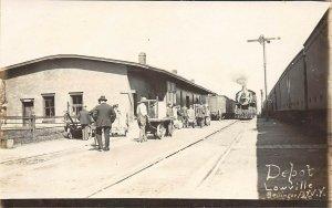 LP18  Depot  Lowville  New York Vintage Postcard R.R. Train RPPC
