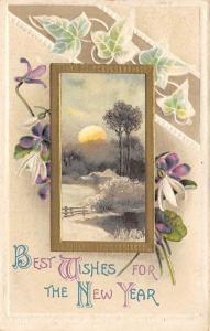 Christmas Post Card Old Vintage Antique Xmas Postcard 1915