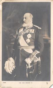 Royalty~HM King Edward VII~Military Uniform~Lafayette Photo~1909 TUCK RPPC