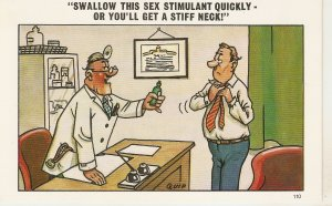 Swallow tos sex stimulant quickly.... Humorous saucy English PC 1950s