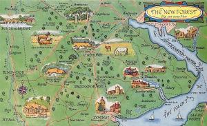 The New Forest Old Yet Ever New Map, Brockenhurst, Fordingbridge Lymington