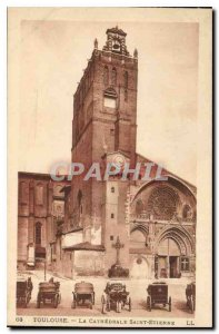 Old Postcard Toulouse Cathedrale Saint Etienne