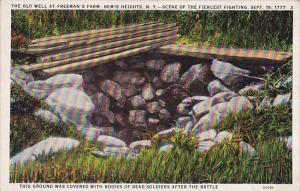 New York Bemis Heights The old Well At Freemans Farm Scene Of The Fiercest Fi...