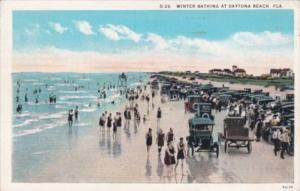 Florida Daytona Beach Winter Bathing and Old Cars On The Beach 1931 Curteich