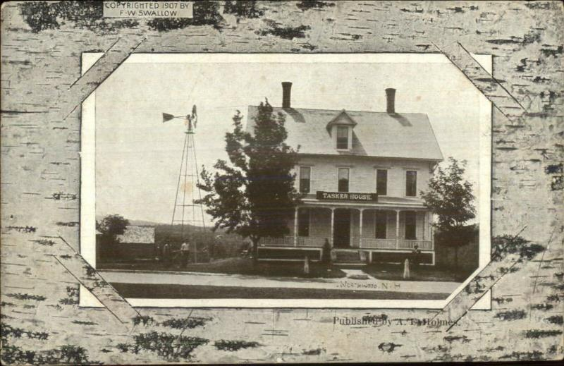 Northwood NH Tasker House c1910 Postcard
