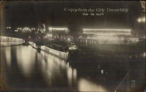 1925 Paris Expo des Arts Decoratifs Real Photo Postcard NIGH VIEW