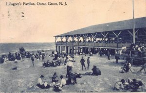 Lillagore's Pavilion, Ocean Grove, N.J. Early Postcard, Used in 1911
