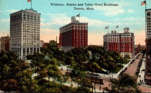 Michigan Detroit Whitney Statler and Tuller Hotels Curteich