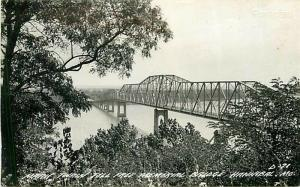 MO, Hannibal, Missouri, Mark Twain Toll Free Bridge, L.L. Cook No. D-71, RPPC