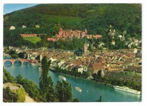 Heidelberg Germany Castle Old Bridge 4X6 Postcard Chrome