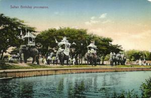 malay malaysia, PERAK, Birthday Procession for Sultan Idris Shah I (1910s)
