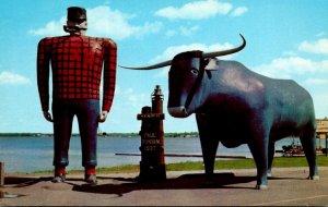 Minnesota Bemidji Paul Bunyan and Babe His Blue Ox