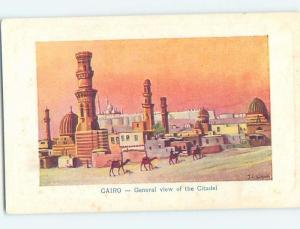 Old Postcard THE CITADEL Cairo Egypt F5644