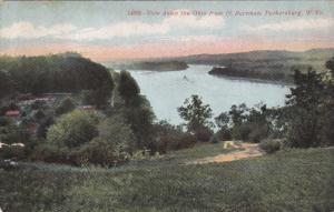 PARKERSBURG, West Virginia; View down the Ohio from Ft. Boreman, PU-1910