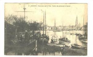 ANVERS Panorama de la Ville. Yachts de plaisance a l'ancre, Belgium, PU-1910
