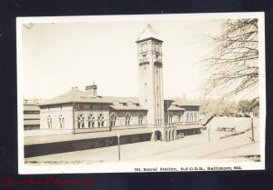 RPPC BALTIMORE MARYLAND B&O RAILROAD STATION MT. ROYAL REAL PHOTO POSTCARD