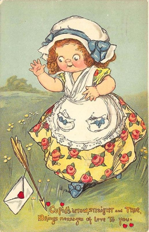 Raphael Tuck Valentine DraytonLove Messages Series # 24 1919 Postcard