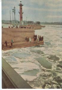 Russia, St. Petersburg, Leningrad, The ice-drift begins, 1967 unused Postcard