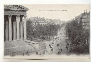 Boulevard de Madeleine, Paris France