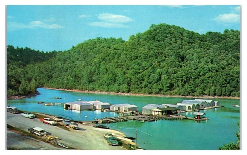 1950s/60s Hurricane Dock at Center Hill Lake near Cookeville, TN Postcard
