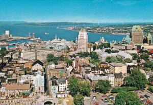 Canada Quebec City Birds Eye View 1983