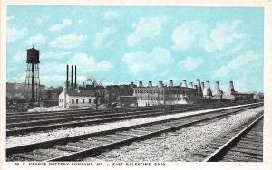 C17/ East Palestine Ohio Postcard c1910 W.S. George Pottery Kilns Factory No 1