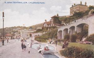 VENTNOR, Isle Of Wight, England, 1900-1910's; Children's Pond, Children Playing