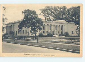 Unused W-Border MUSEUM SCENE Houston Texas TX d9607