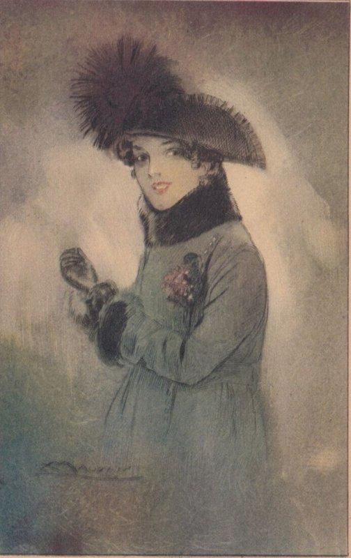 ART DECO ; MAUZAN ; Female Fashion Portrait #3, 1910-30s