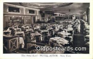 Astro Roof, Hotel Astor Restaurant, New York City, NYC Postcard Post Card USA...