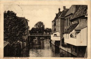 CPA APPINGEDAM Damsterdiep met Vlinterbrug NETHERLANDS (705973)