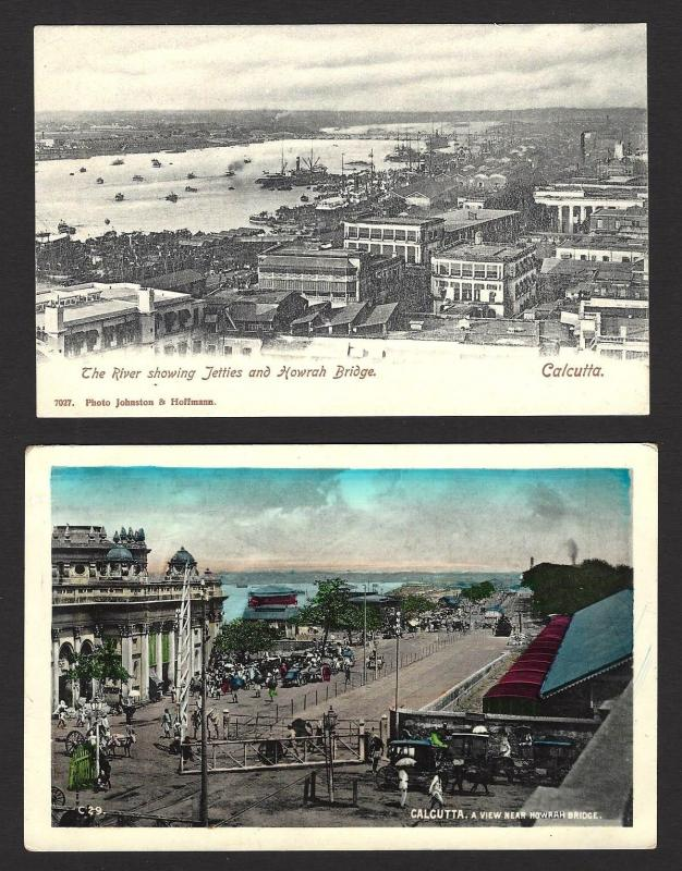 India Calcutta vintage postcards c.1910s-20s x 11