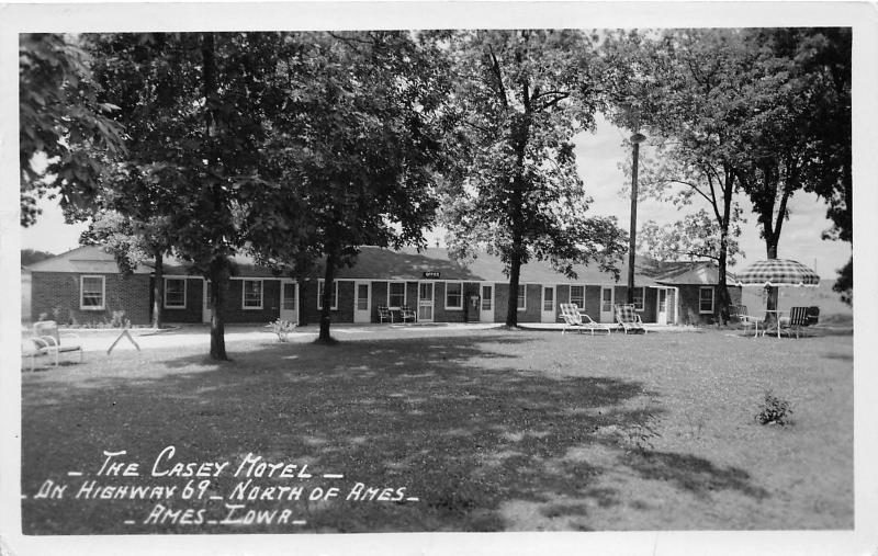 Ames Iowa~Casey Motel on Highway 69 North of Des Moines~1952 Real Photo Postcard