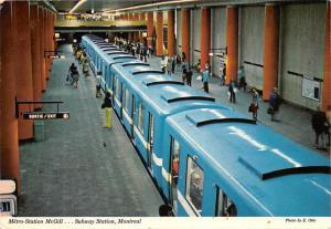 Canada Metro Station McGill Subway Station, Montreal