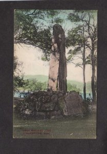 MA Native American Indian Monument Statue Stockbridge Massachusetts Postcard