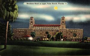 Florida Palm Beach The Breakers Hotel At Night