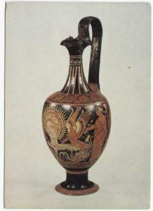 Postcard: South Italian Presentation Vase in the form of a wine jug, Birmingham