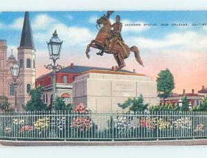 Unused Linen CIVIL WAR MONUMENT New Orleans Louisiana LA F2150