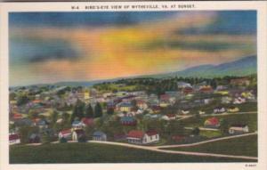 Virginia Wytheville Birds Eye View At Sunset