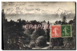 Old Postcard View Tarbes Pyrenees