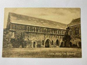 USED 1912 VINTAGE POSTCARD - THE REFECTORY CLEEVE ABBEY SOMERSET UK (KK262)