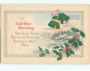 Divided-Back NEW YEAR SCENE Great Postcard AA1888