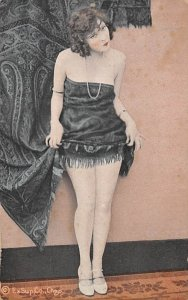 Arcade Movie Star Post Card Ex Sup Co Chgo. Woman with Curtains Unused