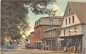 Richmond ME Street View Curtis Store & Dining Room in 1910 Postcard