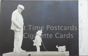 Grand Pere GRANDFATHER & LITTLE GIRL & TEDDY Salon De Paris, A.E. Jacopin Old RP
