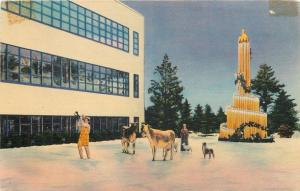 Boston MA~Cows, Dogs on Ice~Trumpet~Christmas~Art Deco Calart Building~1940s