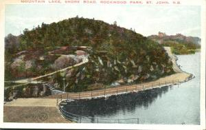 Lake and Shore Road at Rockwood Park - Saint John NB, New Brunswick, Canada - WB