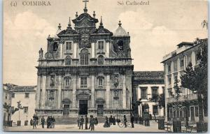 Coimbra, Portugal Postcard Se Cathedral Church Street View Unused c1910s
